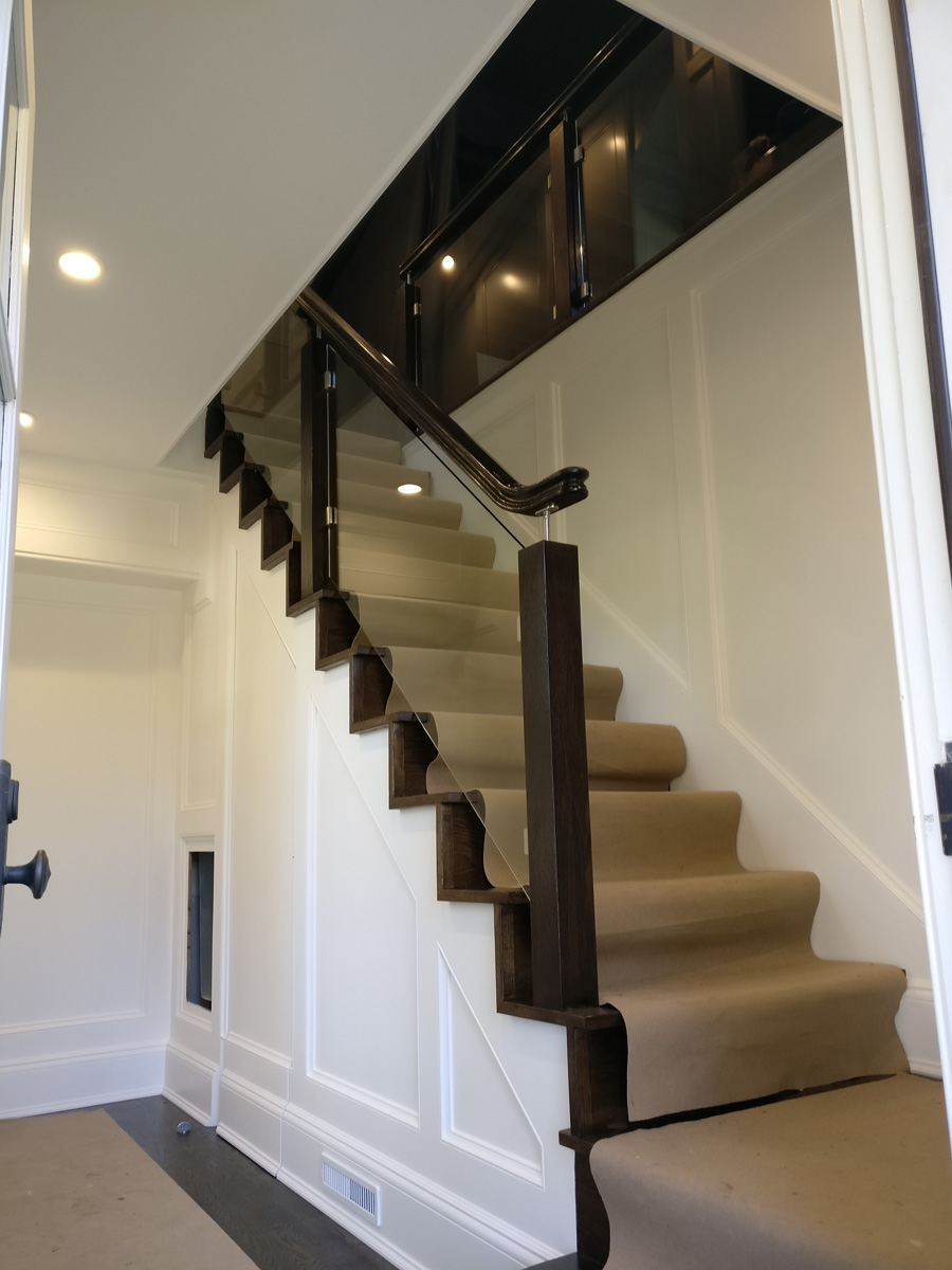 Manhasset Long Island DKP Wood Railings Stairs