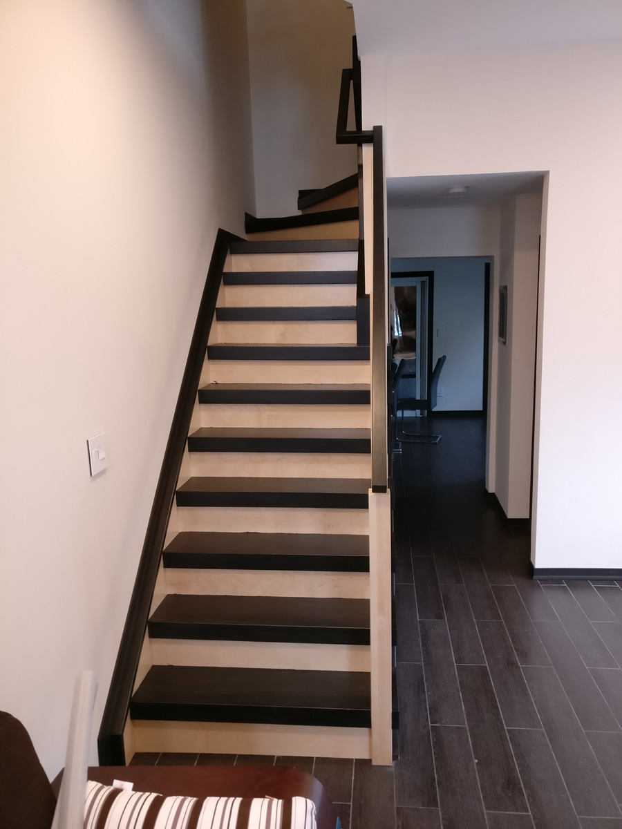 Hauppauge Long Island DKP Wood Railings Stairs