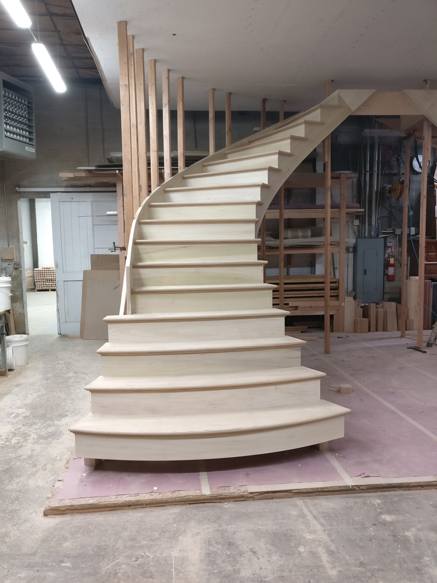 Oakdale Long Island DKP Wood Railings Stairs
