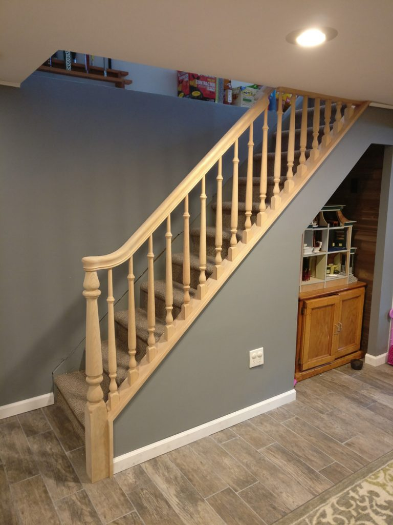 wood handrails for stairs | Portfolio - DKP Wood Railings & Stairs